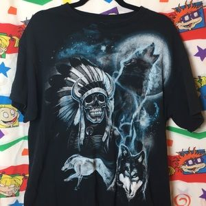 Awesome Wolf + Skeleton Graphic Tee